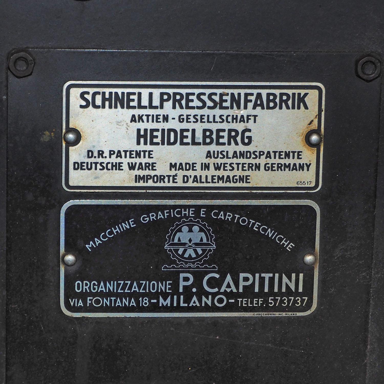 Eladó nyomdagép – Heidelberg tégelysajtó 4