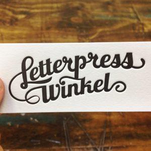 Letterpress Winkel Arculattervezés