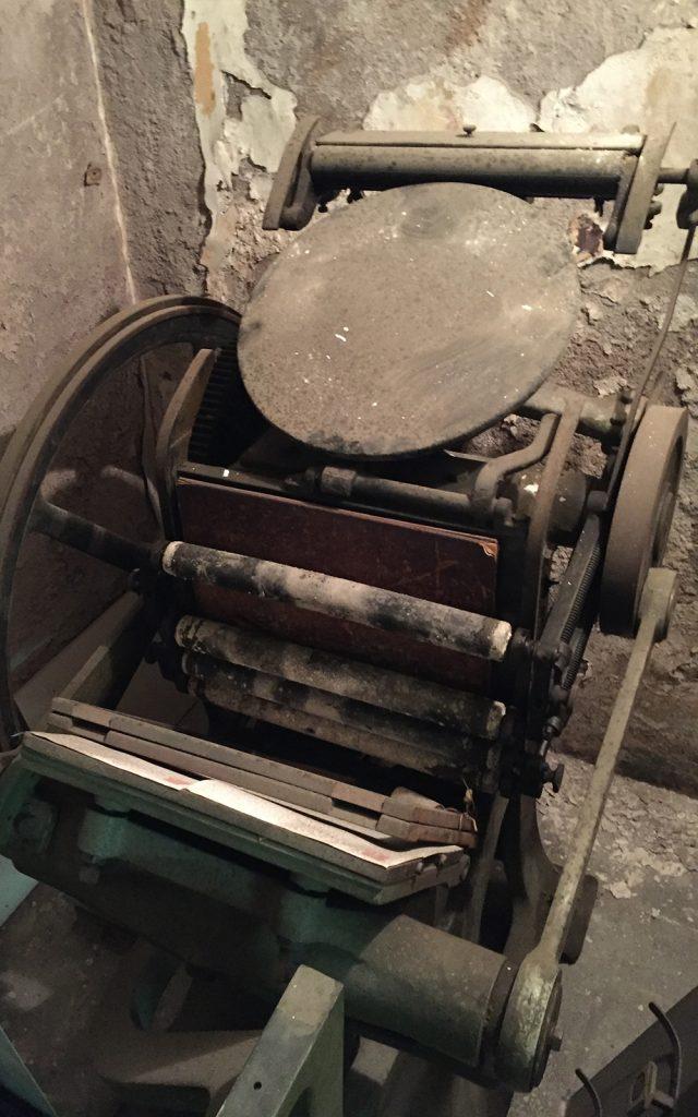 Olasz gép letterpress 01