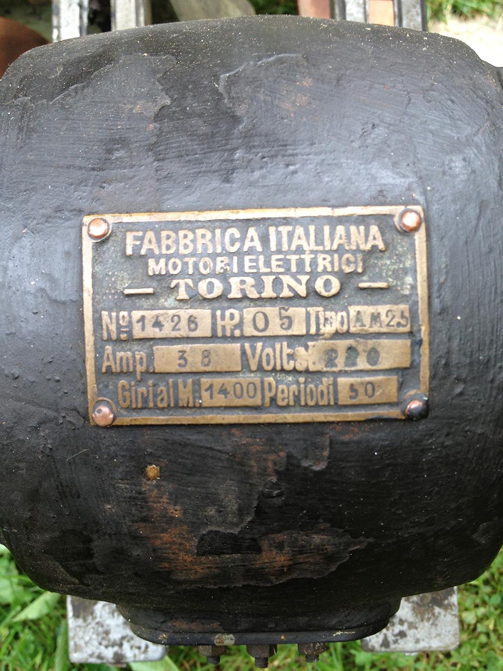 Antique Italian electric motor - Torino